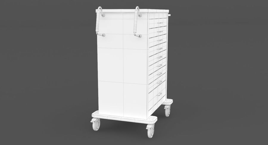 Pediatric Medical Cart royalty-free 3d model - Preview no. 30