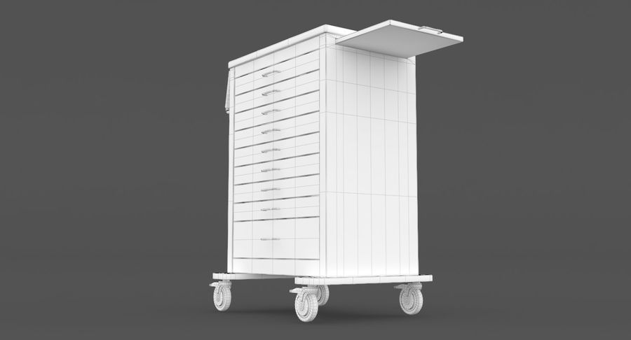 Pediatric Medical Cart royalty-free 3d model - Preview no. 35