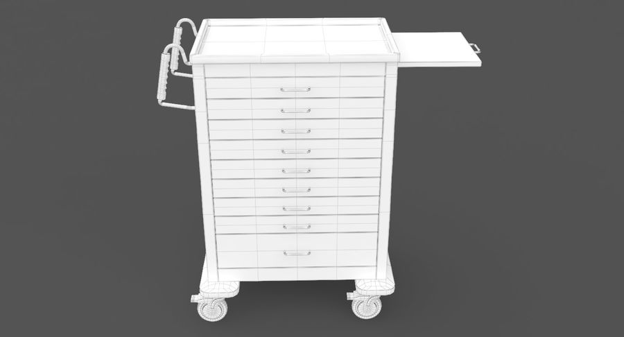 Pediatric Medical Cart royalty-free 3d model - Preview no. 28