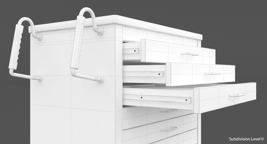 Pediatric Medical Cart royalty-free 3d model - Preview no. 43