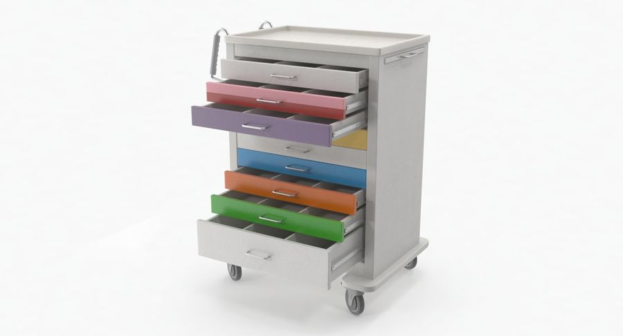 Pediatric Medical Cart royalty-free 3d model - Preview no. 16