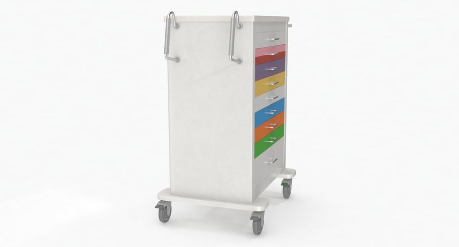 Pediatric Medical Cart royalty-free 3d model - Preview no. 10