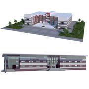 Colección de hospitales modelo 3d