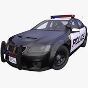 Ogólny amerykański samochód policyjny 3d model