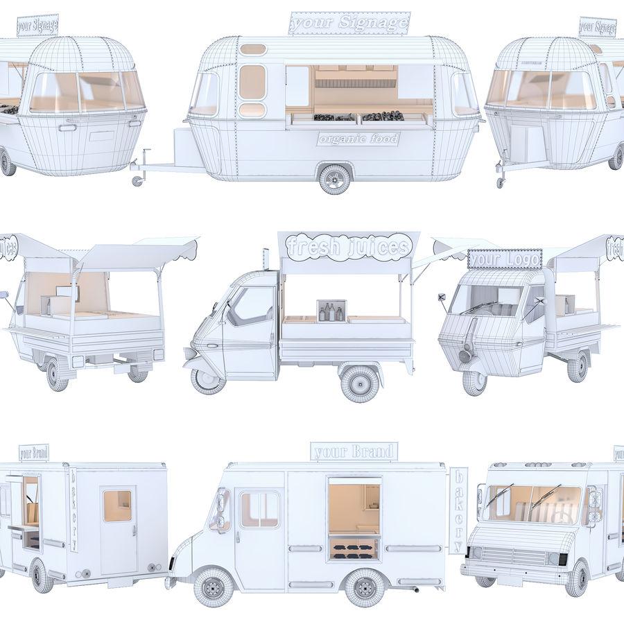 Коллекция Food Trucks royalty-free 3d model - Preview no. 2