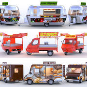 Food Trucks Collection 3d model