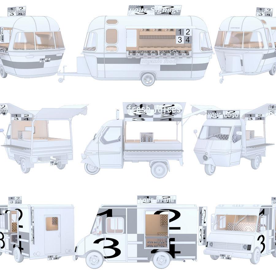 Коллекция Food Trucks royalty-free 3d model - Preview no. 3