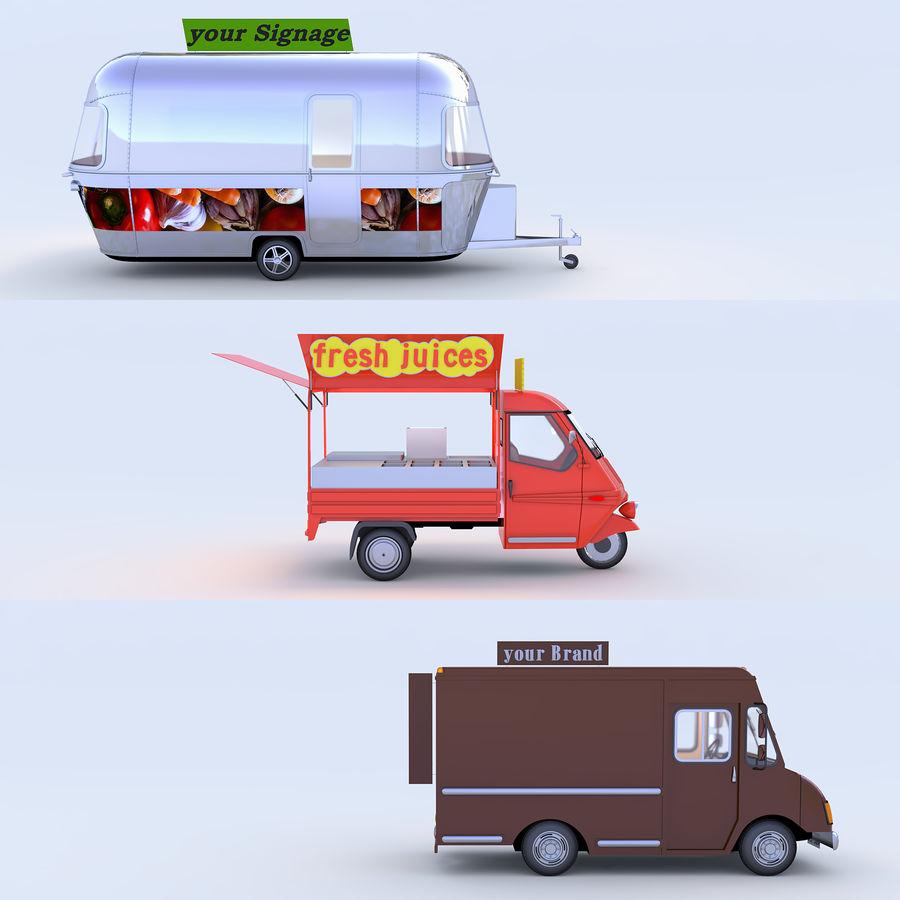 Коллекция Food Trucks royalty-free 3d model - Preview no. 4