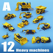 Heavy Machinery MEDIUM Pack A 3d model