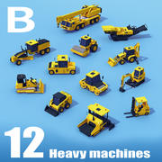 Heavy Machinery MEDIUM Pack B 3d model
