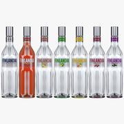 Finlandia Vodka Коллекция всех ароматов бутылок 3d model
