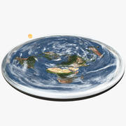 Terre plate 3d model