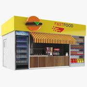 Food kiosk 3d model