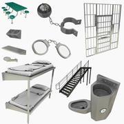 Coleção de equipamentos prisionais 3d model