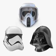 Casques Star Wars Collection de modèles 3D 2 3d model