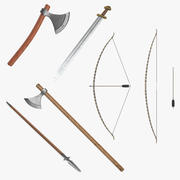 Viking Weapons 3D Models Collection 3 modelo 3d