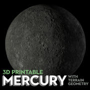3d Printable Mercury 3d model