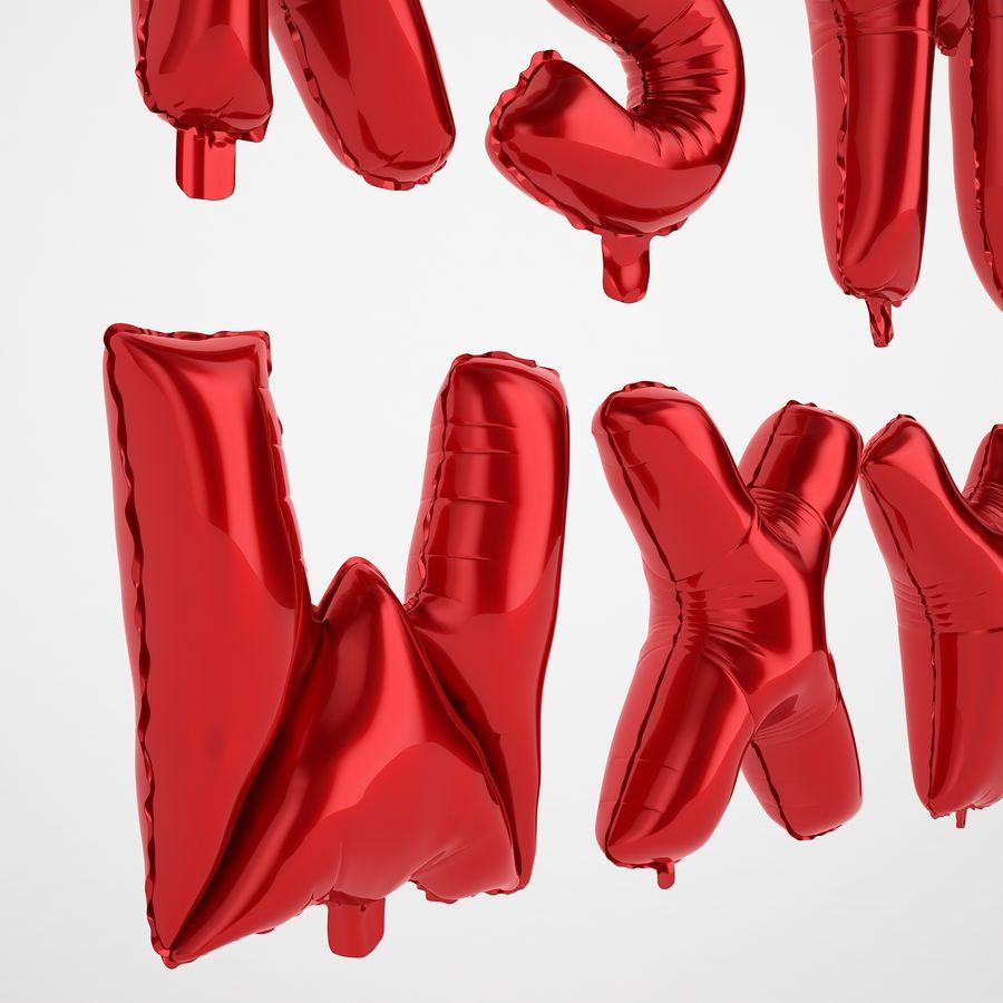 Folienballon Buchstaben rot royalty-free 3d model - Preview no. 53