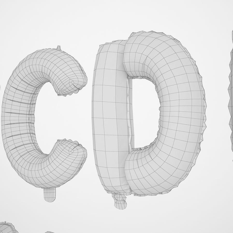 Folienballon Buchstaben rot royalty-free 3d model - Preview no. 20