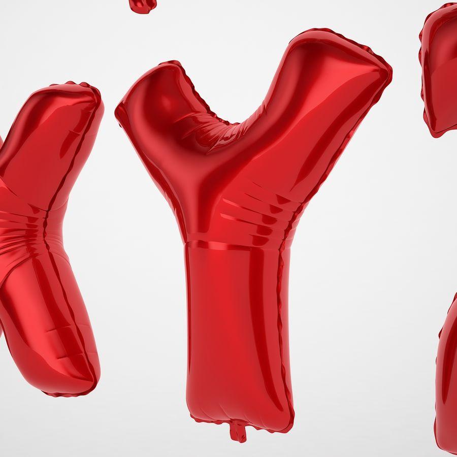 Folienballon Buchstaben rot royalty-free 3d model - Preview no. 49