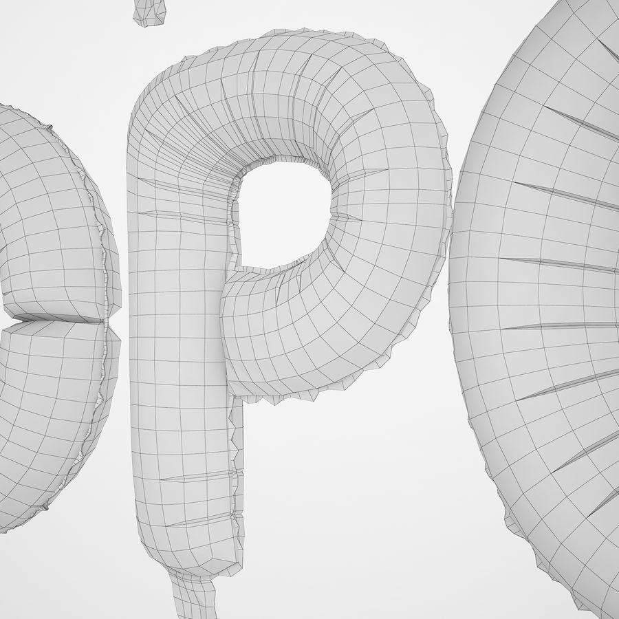 Folienballon Buchstaben rot royalty-free 3d model - Preview no. 36
