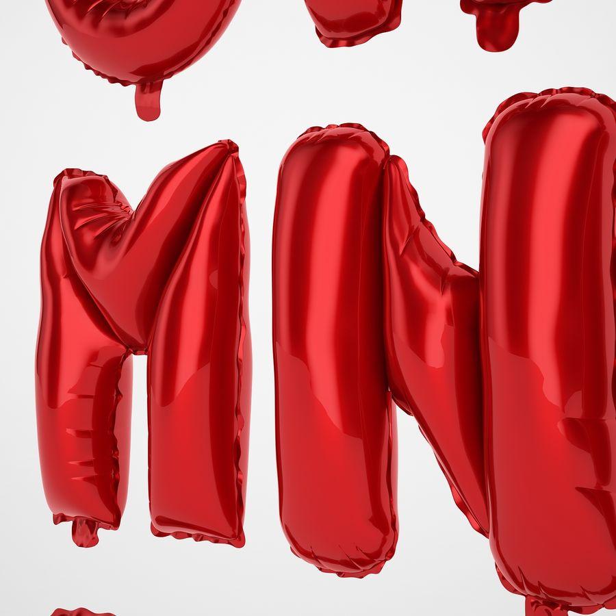 Folienballon Buchstaben rot royalty-free 3d model - Preview no. 31