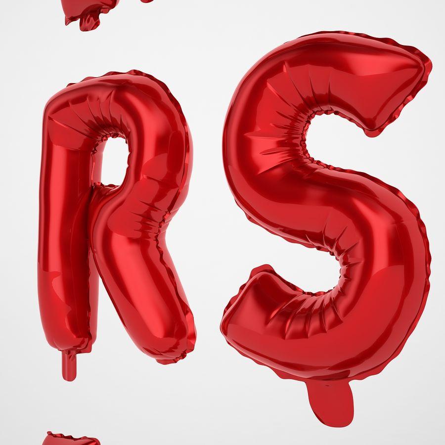 Folienballon Buchstaben rot royalty-free 3d model - Preview no. 43