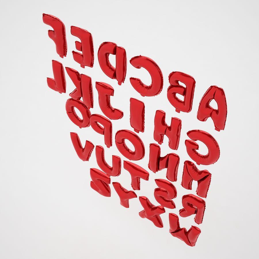 Folienballon Buchstaben rot royalty-free 3d model - Preview no. 13