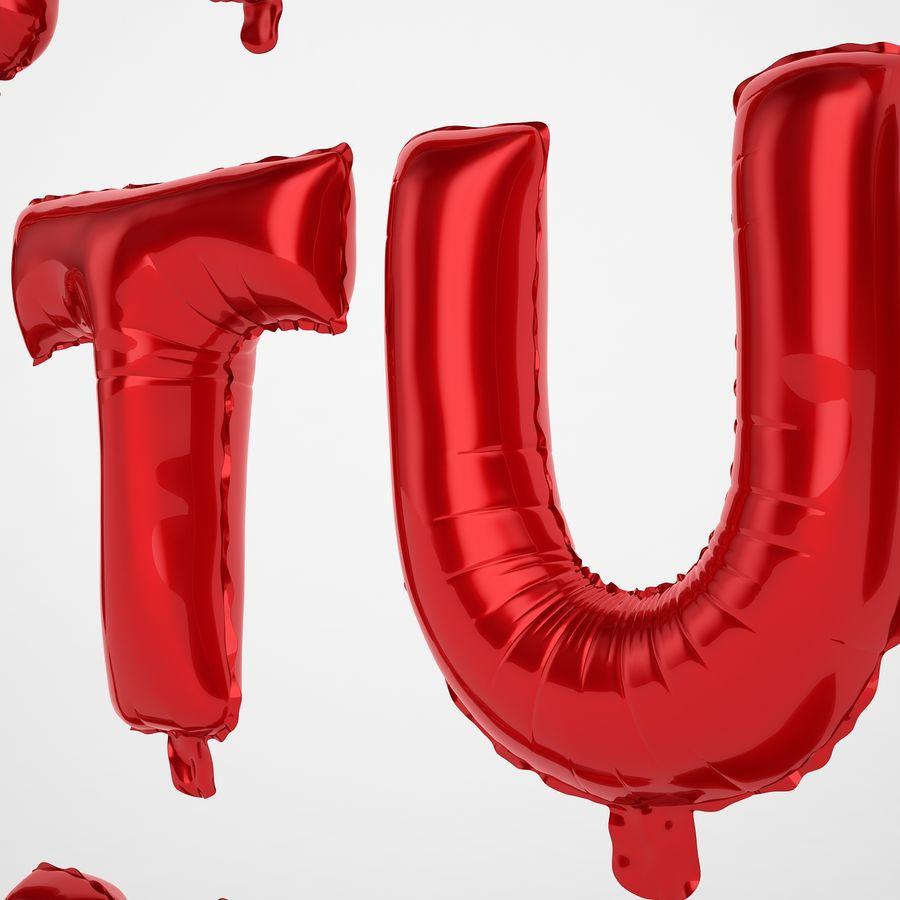 Folienballon Buchstaben rot royalty-free 3d model - Preview no. 41
