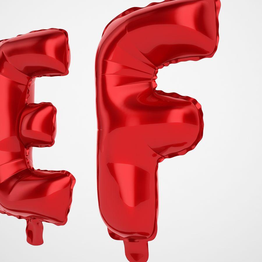 Folienballon Buchstaben rot royalty-free 3d model - Preview no. 23