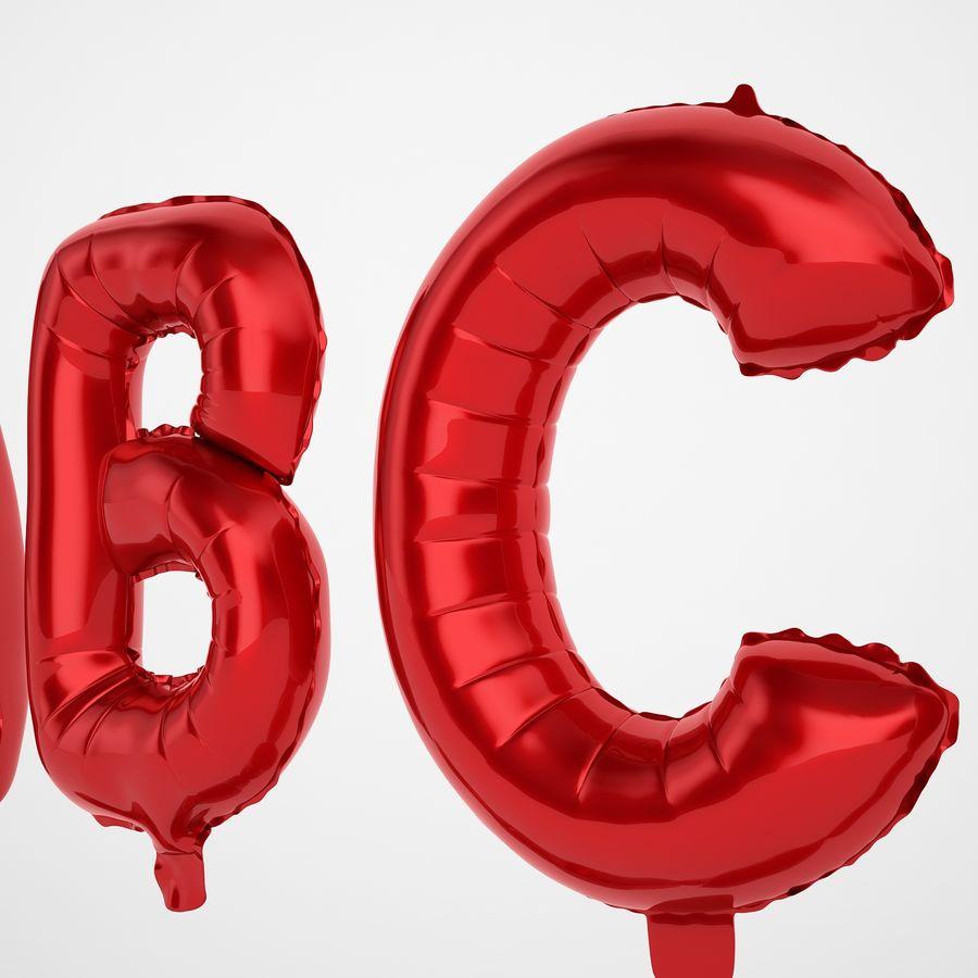 Folienballon Buchstaben rot royalty-free 3d model - Preview no. 17