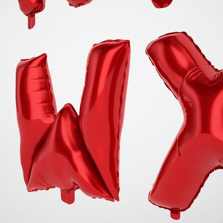 Folienballon Buchstaben rot royalty-free 3d model - Preview no. 45