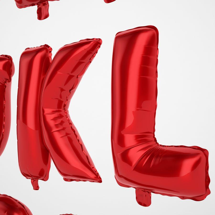 Folienballon Buchstaben rot royalty-free 3d model - Preview no. 25
