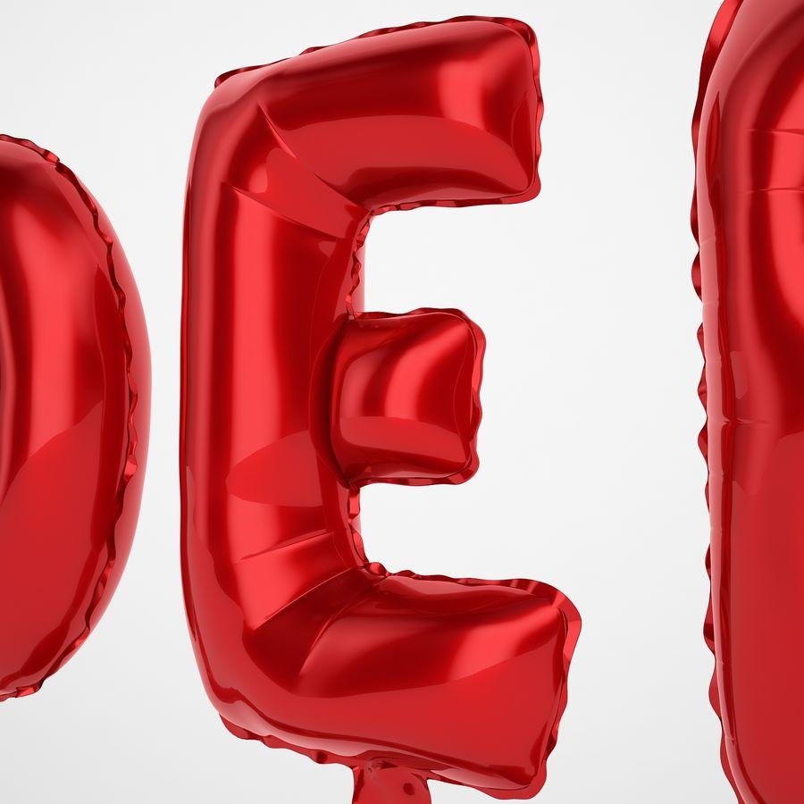 Folienballon Buchstaben rot royalty-free 3d model - Preview no. 21