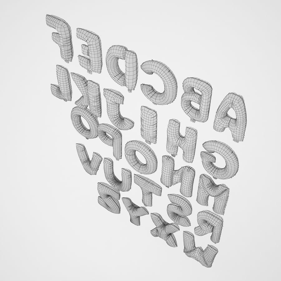 Folienballon Buchstaben rot royalty-free 3d model - Preview no. 14