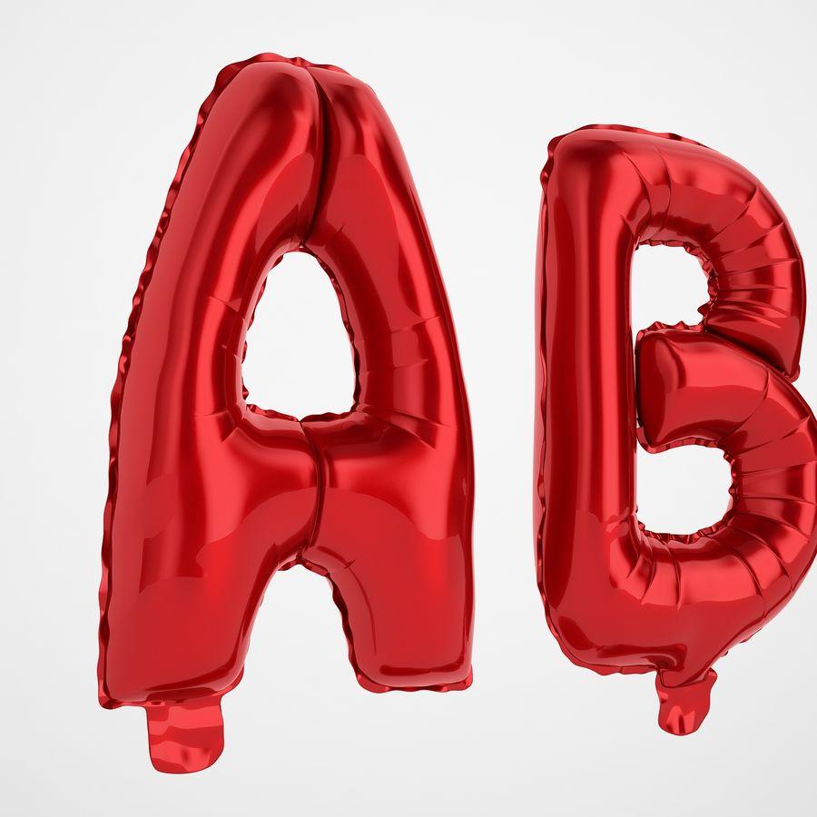 Folienballon Buchstaben rot royalty-free 3d model - Preview no. 15