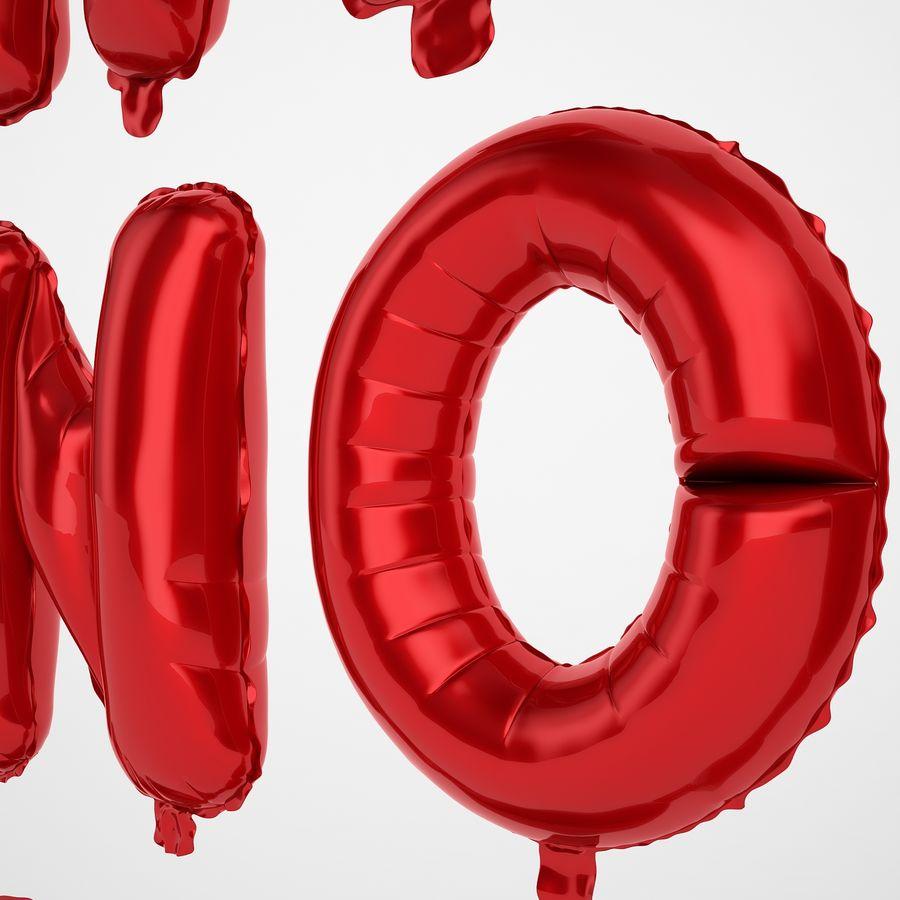 Folienballon Buchstaben rot royalty-free 3d model - Preview no. 33