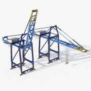 Grues portuaires 3d model