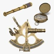 Collection d'équipement de navigation vintage 3d model