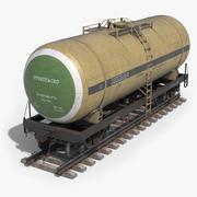 Railroad Tank Car 3d model
