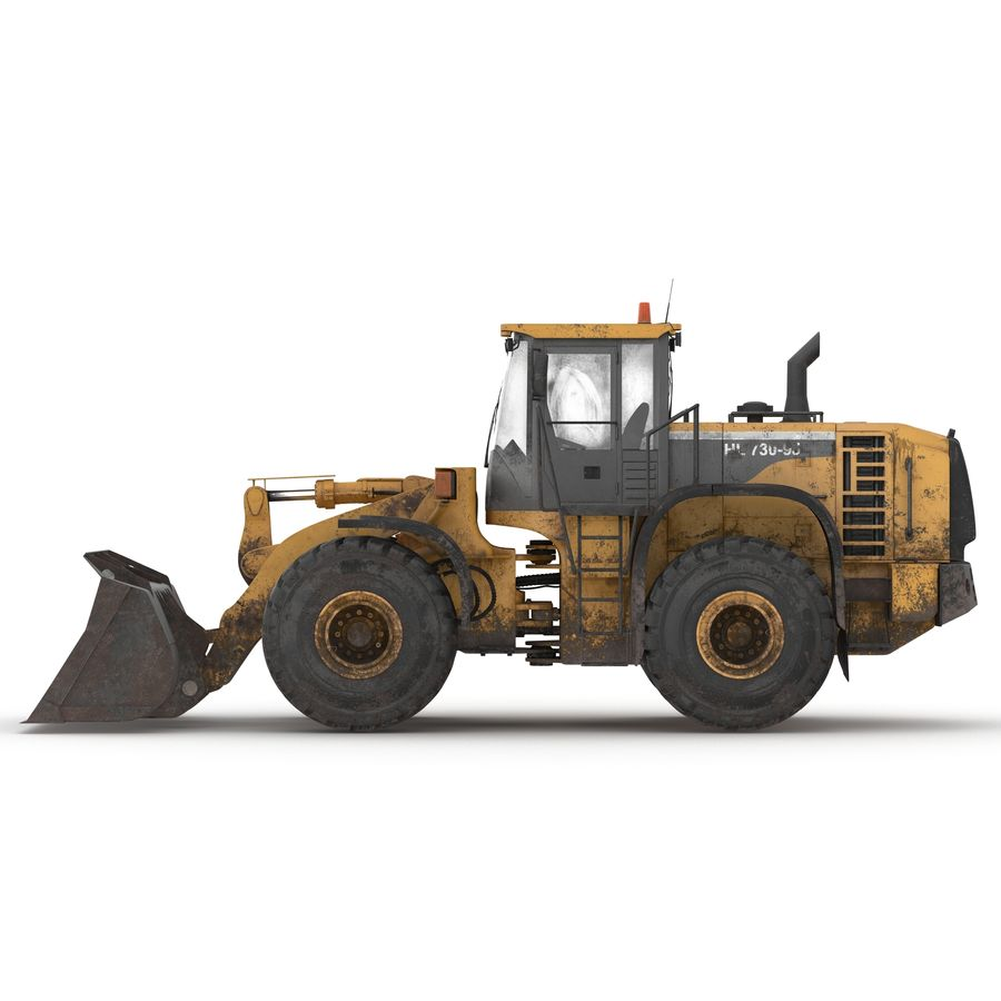 Front End Loader royalty-free 3d model - Preview no. 5