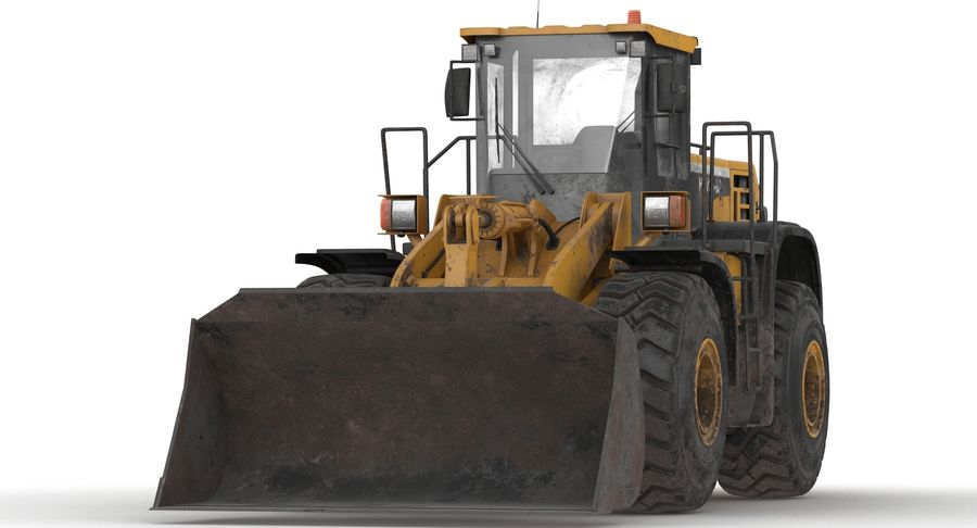 Front End Loader royalty-free 3d model - Preview no. 16