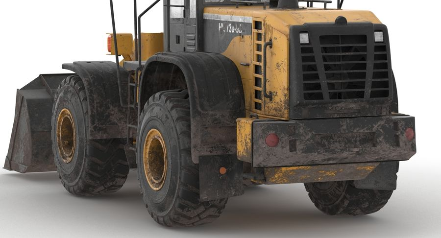 Front End Loader royalty-free 3d model - Preview no. 10