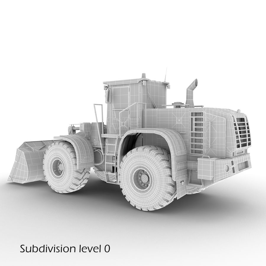 Front End Loader royalty-free 3d model - Preview no. 17