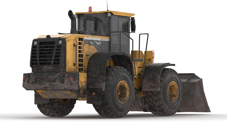 Front End Loader royalty-free 3d model - Preview no. 14