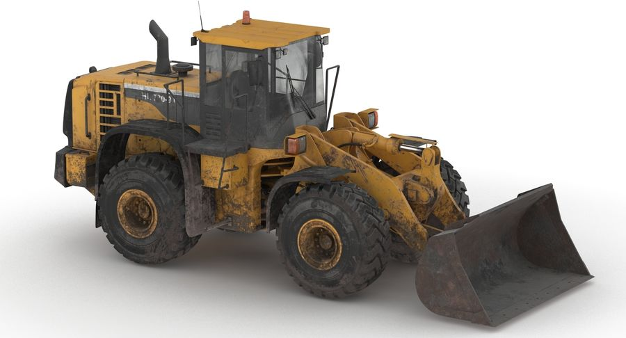 Front End Loader royalty-free 3d model - Preview no. 15
