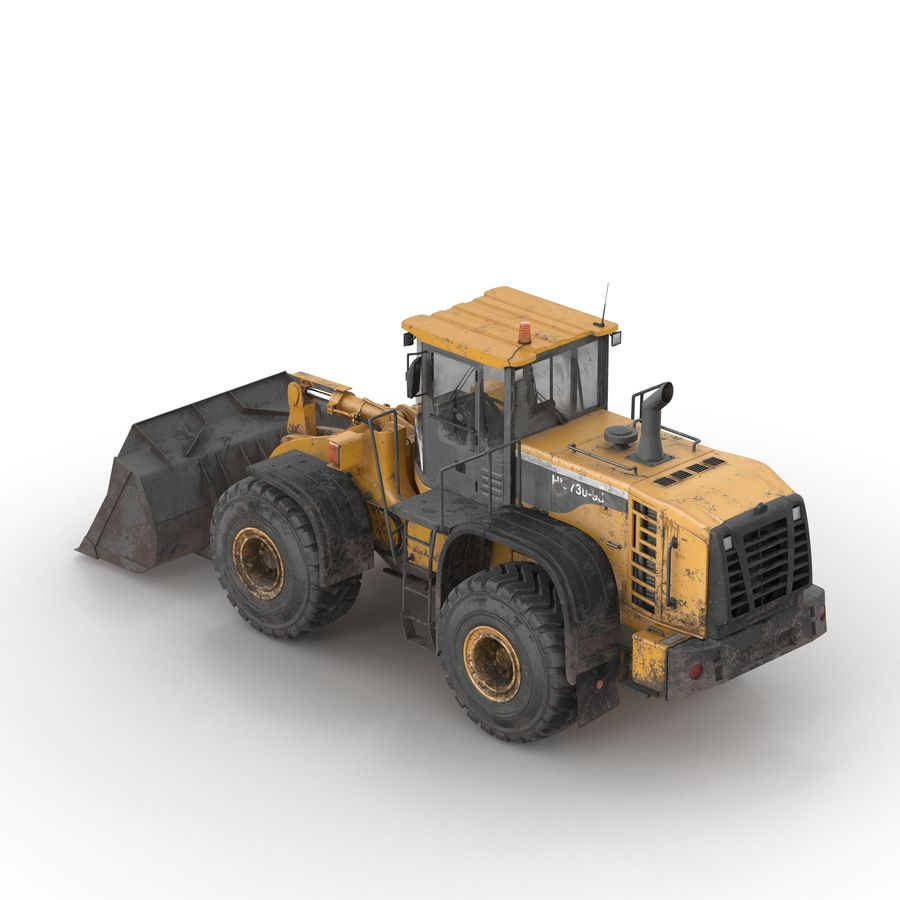 Front End Loader royalty-free 3d model - Preview no. 3
