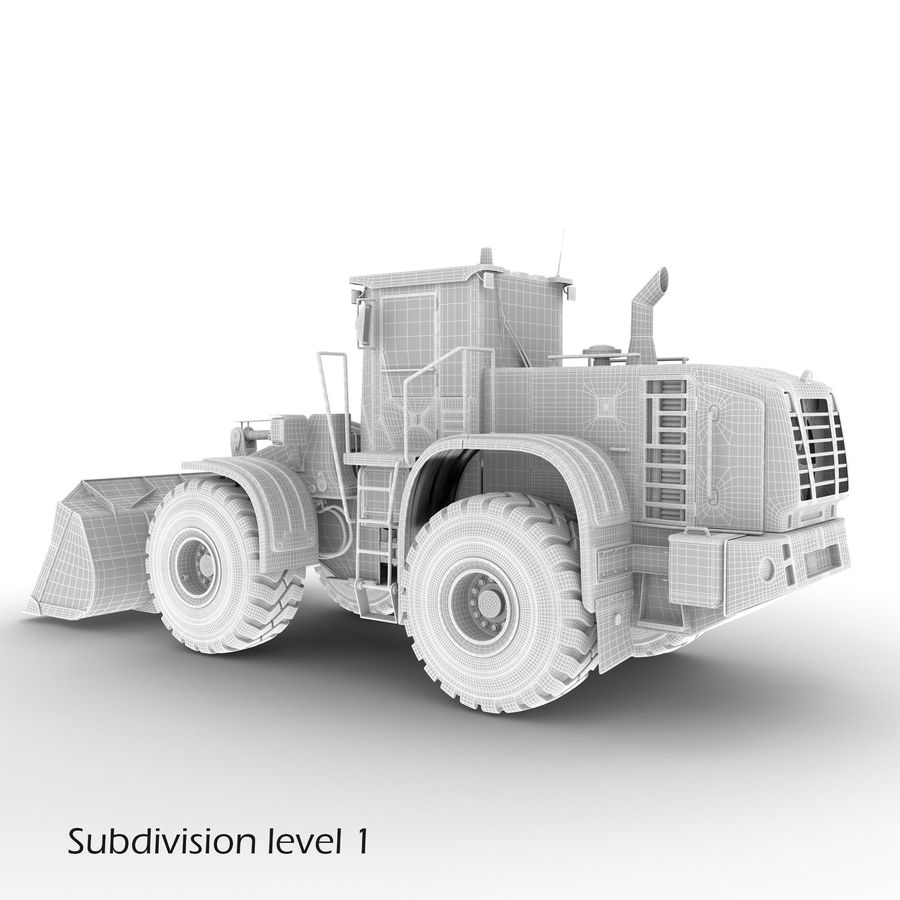 Front End Loader royalty-free 3d model - Preview no. 18