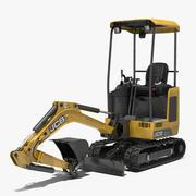 Tracked Mini Excavator JCB Dirty 3D Model 3d model