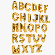 Foil Balloon Letters Gold 3d model